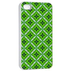 Cute Pattern Gifts Apple Iphone 4/4s Seamless Case (white)