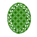 Cute Pattern Gifts Oval Filigree Ornament (2-Side)  Front
