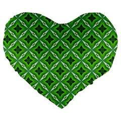 Cute Pattern Gifts Large 19  Premium Flano Heart Shape Cushions