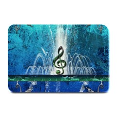 Clef With Water Splash And Floral Elements Plate Mats