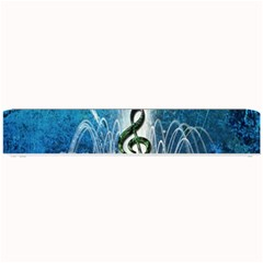 Clef With Water Splash And Floral Elements Small Bar Mats