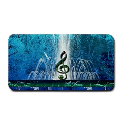 Clef With Water Splash And Floral Elements Medium Bar Mats