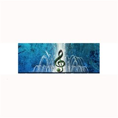 Clef With Water Splash And Floral Elements Large Bar Mats
