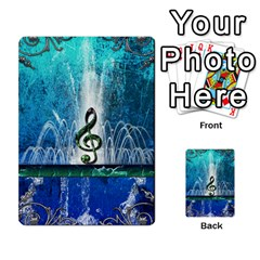 Clef With Water Splash And Floral Elements Multi Purpose Cards (rectangle)