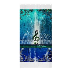 Clef With Water Splash And Floral Elements Shower Curtain 36  x 72  (Stall)