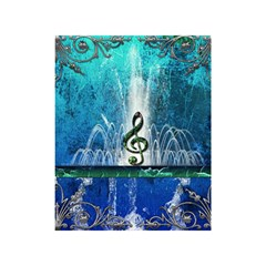 Clef With Water Splash And Floral Elements Shower Curtain 48  x 72  (Small)