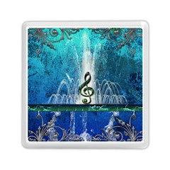 Clef With Water Splash And Floral Elements Memory Card Reader (square)