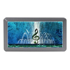 Clef With Water Splash And Floral Elements Memory Card Reader (mini)