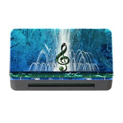 Clef With Water Splash And Floral Elements Memory Card Reader with CF