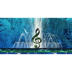 Clef With Water Splash And Floral Elements YOU ARE INVITED 3D Greeting Card (8x4)