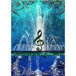 Clef With Water Splash And Floral Elements You Did It 3D Greeting Card (7x5) Inside