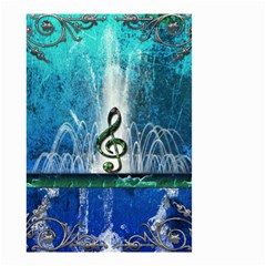 Clef With Water Splash And Floral Elements Small Garden Flag (Two Sides)