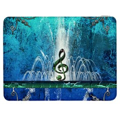 Clef With Water Splash And Floral Elements Samsung Galaxy Tab 7  P1000 Flip Case