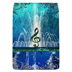 Clef With Water Splash And Floral Elements Flap Covers (s)