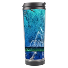 Clef With Water Splash And Floral Elements Travel Tumblers