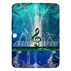 Clef With Water Splash And Floral Elements Samsung Galaxy Tab 3 (10 1 ) P5200 Hardshell Case