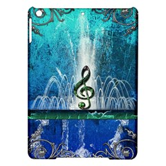 Clef With Water Splash And Floral Elements Ipad Air Hardshell Cases