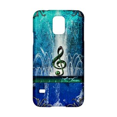 Clef With Water Splash And Floral Elements Samsung Galaxy S5 Hardshell Case