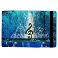 Clef With Water Splash And Floral Elements Ipad Air Flip