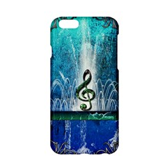 Clef With Water Splash And Floral Elements Apple Iphone 6/6s Hardshell Case
