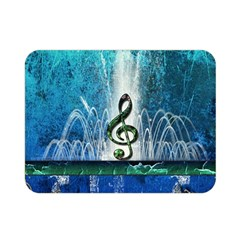 Clef With Water Splash And Floral Elements Double Sided Flano Blanket (Mini)