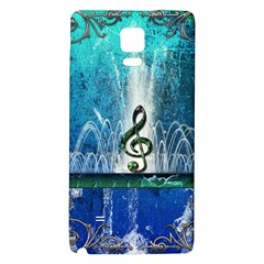 Clef With Water Splash And Floral Elements Galaxy Note 4 Back Case