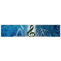 Clef With Water Splash And Floral Elements Flano Scarf (Small)