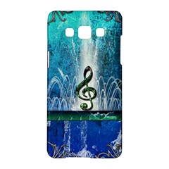 Clef With Water Splash And Floral Elements Samsung Galaxy A5 Hardshell Case