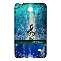 Clef With Water Splash And Floral Elements Samsung Galaxy Tab 4 (8 ) Hardshell Case