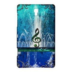 Clef With Water Splash And Floral Elements Samsung Galaxy Tab S (8.4 ) Hardshell Case