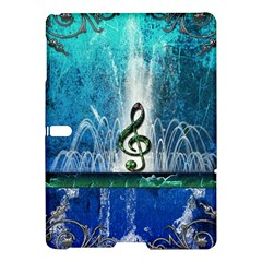 Clef With Water Splash And Floral Elements Samsung Galaxy Tab S (10.5 ) Hardshell Case