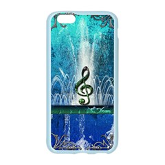 Clef With Water Splash And Floral Elements Apple Seamless iPhone 6 Case (Color)