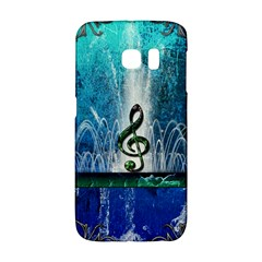 Clef With Water Splash And Floral Elements Galaxy S6 Edge
