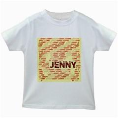 Jenny Kids White T Shirts