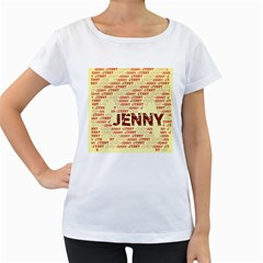 Jenny Women s Loose Fit T Shirt (white)