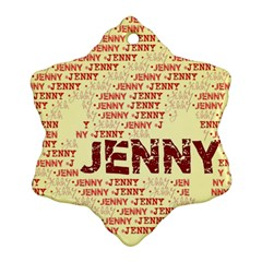 Jenny Snowflake Ornament (2-Side)