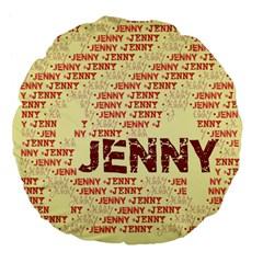 Jenny Large 18  Premium Flano Round Cushions