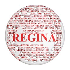 Regina Ornament (round Filigree)