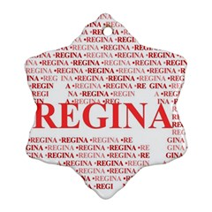 Regina Snowflake Ornament (2 Side)