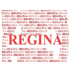 Regina Birthday Cake 3d Greeting Card (7x5)