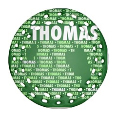 Thomas Round Filigree Ornament (2side)