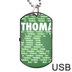 Thomas Dog Tag Usb Flash (one Side)