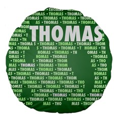 Thomas Large 18  Premium Flano Round Cushions