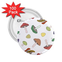 Mushrooms Pattern 02 2 25  Buttons (100 Pack)