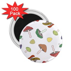 Mushrooms Pattern 02 2 25  Magnets (100 Pack)