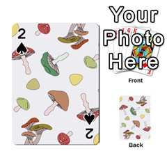 Mushrooms Pattern 02 Playing Cards 54 Designs