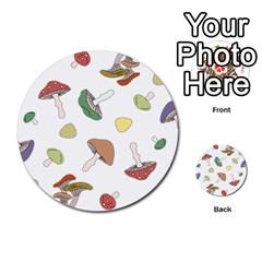 Mushrooms Pattern 02 Multi-purpose Cards (Round)