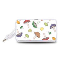 Mushrooms Pattern 02 Portable Speaker (White)