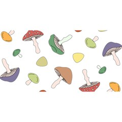 Mushrooms Pattern 02 YOU ARE INVITED 3D Greeting Card (8x4)