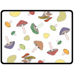 Mushrooms Pattern 02 Double Sided Fleece Blanket (Large)